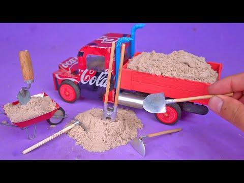 Faça um Incrível Caminhão e Ferramentas de construção com Latinhas