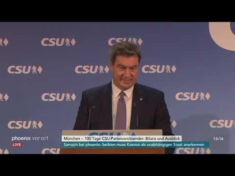 Pressekonferenz der CSU zur 100-Tage-Bilanz von Markus  ...