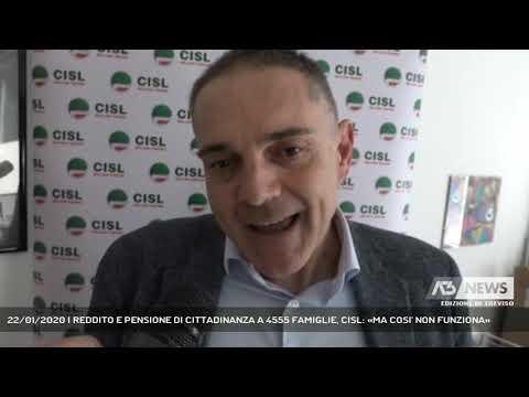 22/01/2020 | REDDITO E PENSIONE DI CITTADINANZA A 4555 FAMIGLIE, CISL: «MA COSI' NON FUNZIONA»