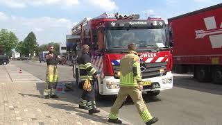 Brandweer ingezet bij brandstoflekkage bij vrachtwagen