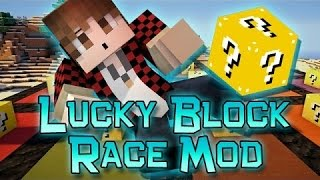 FUN Minecraft: Lucky Block Race! Modded Mini-Game w/Mitch&Friends!