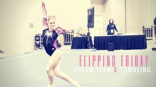 Flipping Friday montage of our 2017 Dream Team Double Flipping E Skills on Floor at JO Nationals. We had 12 athletes tumbling full ins, full outs, Double Ara...
