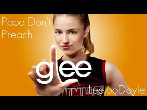 Tekst piosenki Glee Cast - Papa don't preach po polsku