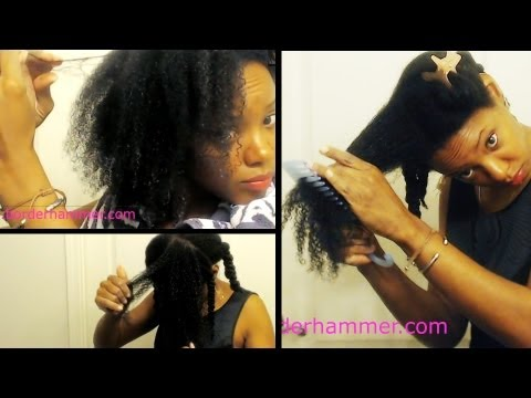 Fine/Thin 4A Natural Hair Tips   Finger Detangling Fine 4A Hair After a Wash & Go