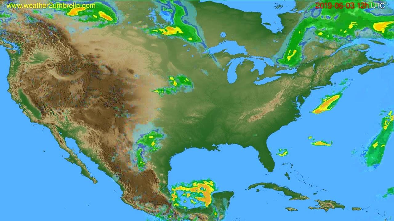 Radar forecast USA & Canada // modelrun: 00h UTC 2019-06-03