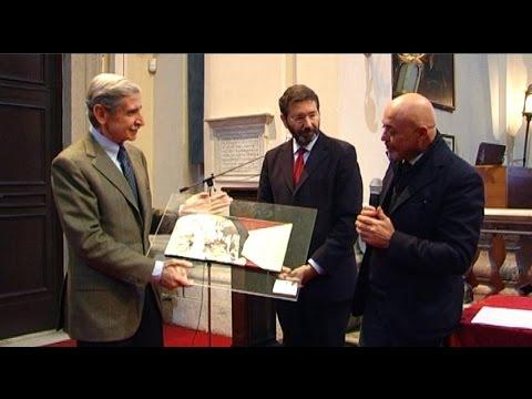 Sindaco Marino e Presidente FederAnziani premiano Carlo Patrono