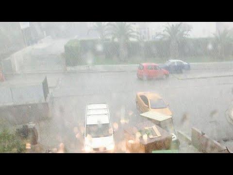 Iσχυρή καταιγίδα και χαλάζι στη Θεσσαλονίκη
