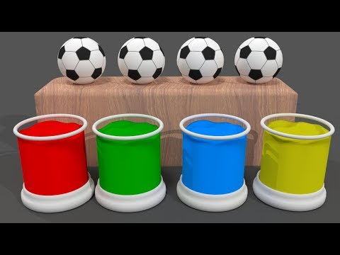 Learn Colors with Surprise Soccer Balls #h Magic Liquids for Kids Toddlers