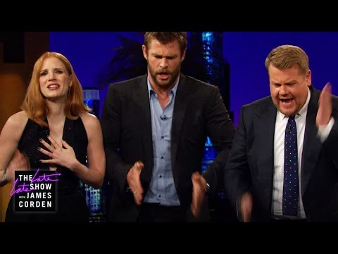WATCH: Charlize Theron, Emily Blunt, Chris Hemsworth & Jessica Chastain Have So Much Fun!