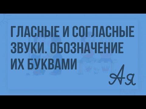 Гласные и согласные звуки. Обозначение их буквами. Видеоурок  по русскому языку 1  класс