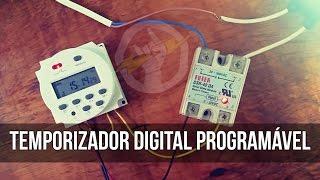 """Temporizador Digital Programável. Temporizador Digital muito simples de configurar. Permite programar o dia, hora e minuto que uma determinada carga vai ser acionada ou desligada. Você pode usar em conjunto com o Relé de Estado Sólido, como no vídeo, ou sozinho. É possível comprar esses temporizadores por menos de 10 dólares. Confira!-----------------------------------------------------------------------------------------------------Temporizador digital programável por menos de $10 nos sites:-----------------------------------------------------------------------------------------------------Banggood:Modelo 12V: http://www.banggood.com/L701-Digital-LCD-Power-Programmable-Timer-Switch-Controller-16A-12V-For-LED-Strip-Lights-p-989000.html?p=970719369296201312SGOutros modelos: http://www.banggood.com/search/programmable-timer-switch.html?p=970719369296201312SGGearbest:Escolha entre 12V/24V/110V/220V: http://www.gearbest.com/other-camping-gadgets/pp_378252.html?lkid=10247722Aliexpress: Modelo 12V: http://s.click.aliexpress.com/e/VnUZRvVModelo 110V: http://s.click.aliexpress.com/e/fE2vF2JModelo 220V:  http://s.click.aliexpress.com/e/yZ7uJ2v-----------------------------------------------------------------------------------------------------Relés de Estado Sólido (SSRs):-----------------------------------------------------------------------------------------------------Banggood: http://www.banggood.com/search/solid-state-relay.html?p=970719369296201312SGAliexpress: http://s.click.aliexpress.com/e/6eAu7U7Curta a página """"Engenharia Elétrica e Eletrônica"""": http://fb.com/EngenhariaEletricaEletronica Programmable Timer Switch"""
