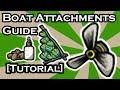 DON'T STARVE SHIPWRECKED - FULL BOAT ATTACHMENT GUIDE (TUTORIAL)