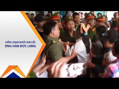 Hỗn loạn tại buổi xin lỗi ông Hàn Đức Long | VTC1 - Thời lượng: 70 giây.