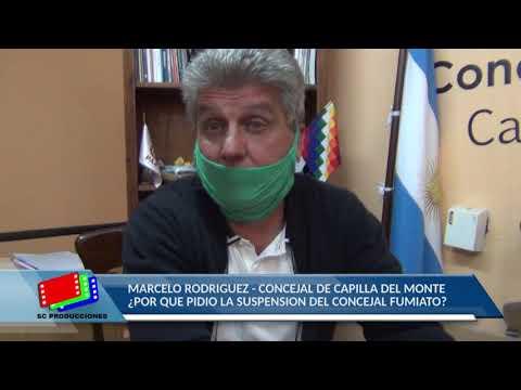POLEMICA EN EL CONCEJO DE CAPILLA: VIDEO CON NOTA AL CONCEJAL MARCELO RODRIGUEZ: TEMA FUMIATO
