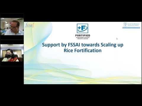 FSSAI Consultation with States on Rice Fortification Maharashtra & Goa.
