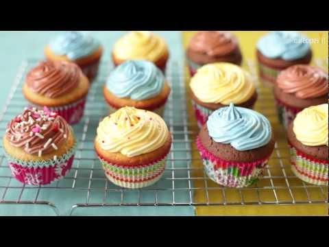 cupcake alla vaniglia e cioccolato - ricetta