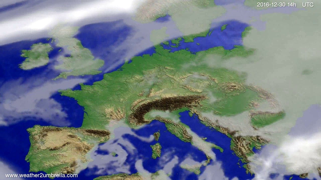 Cloud forecast Europe 2016-12-26