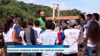 Projeto ensina crianças a preservarem o meio ambiente com visita ao rio Tietê