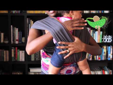 How to carry a baby in a Zozinette baby wrap