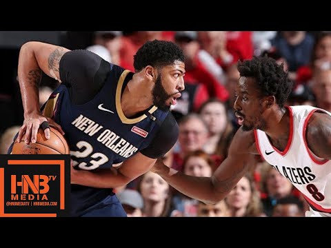 New Orleans Pelicans vs Portland Trail Blazers Full Game Highlights / Game 2 / 2018 NBA Playoffs (видео)
