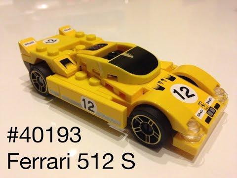 #40193 Shell V-Power LEGO Ferrari 512 S Assembly