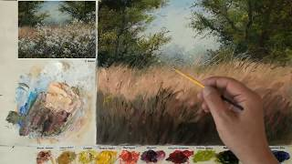 Oil painting for landscape