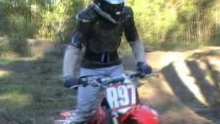 8. Me riding my son's CRF150RB