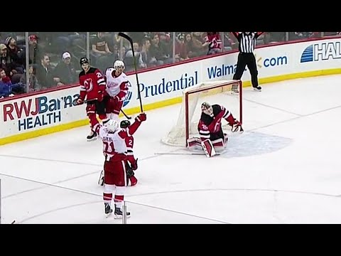 Video: Dylan Larkin goes top corner to extend the Red Wings' lead on Devils