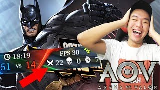 Video KILL 22 MATI 0 PAKE BATMAN MANTEPDAH ! - Arena Of Valor MP3, 3GP, MP4, WEBM, AVI, FLV Agustus 2017