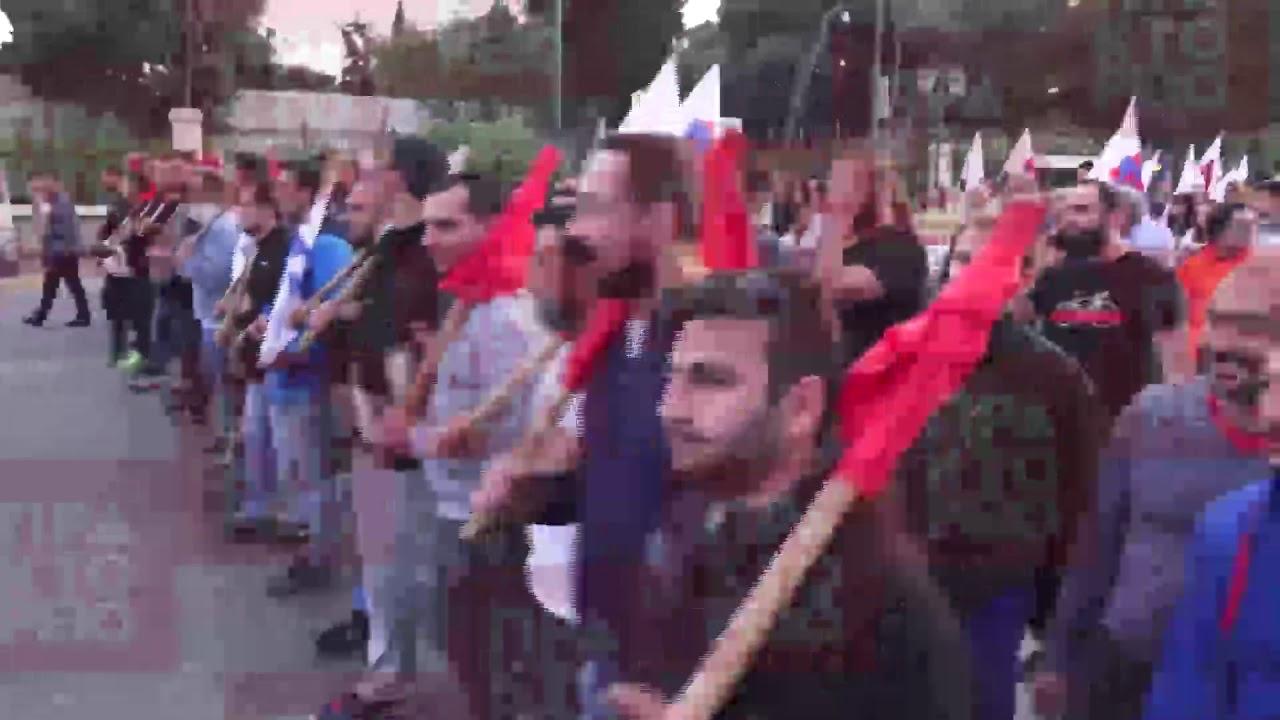 Aντιπολεμική συγκέντρωση του ΠΑΜΕ στο Σύνταγμα και πορεία στην Αμερικάνικη πρεσβεία