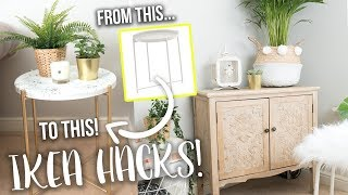DIY IKEA HACKS! BOUJEE ON A BUDGET HOME DECOR IDEAS!