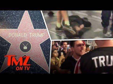 HUGE Fight At Trump's Hollywood Star!   TMZ TV