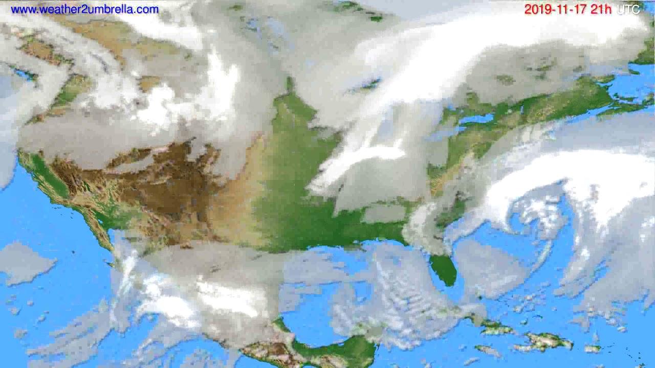Cloud forecast USA & Canada // modelrun: 12h UTC 2019-11-16