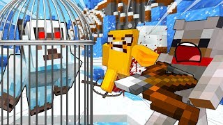 TRAPPED By The YETI - MINECRAFT BABY WOLF ADVENTURES [12]
