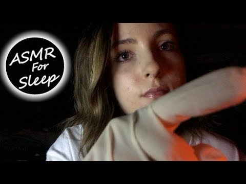 ASMR // Face touching & Hand Movements for Sleep! (no talking)