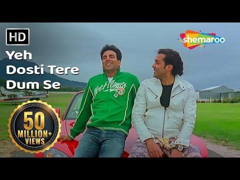 Yeh Dosti Tere Dum Se   Dosti-Friends Forever   Akshay Kumar   Bobby Deol   Udit Narayan  Gold songs
