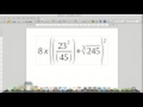 LibreOffice Math - (Complex) Equation Editor - Writer - Tutorial (Linux)