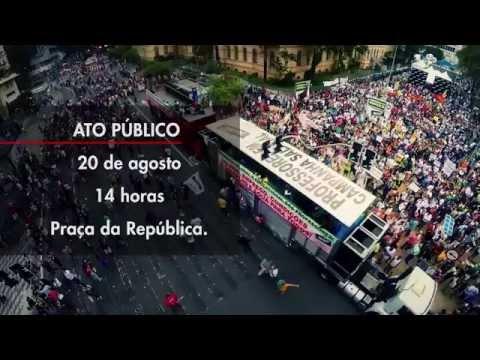 Chamada do Ato Público dia 20/08.