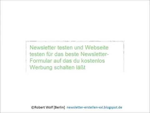 Newsletter testen kostenlos