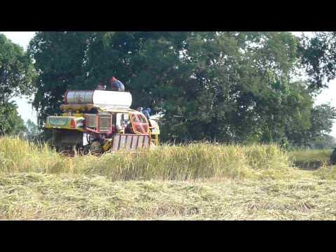 รถเกี่ยวข้าวเกษตรพัฒนาศรีสะเกษ4.MOV