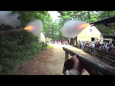 POV American Revolutionary War historically accurate street fighting