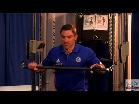 Nick Clayton demonstrates the Chest Press on Bodycraft