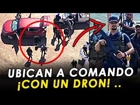 ¡Con un drón! Captan al M2 y a Comando de los Jaliscos, en El Aguaje, Michoacan.