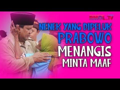 Nenek Yang Dipeluk Prabowo Menangis Minta Maaf