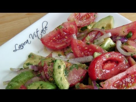 Tomato and Avocado Salad – Recipe by Laura Vitale – Laura in the Kitchen Ep 188