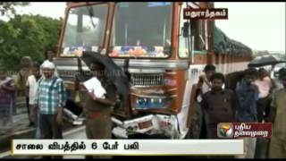 6 dead in road accident near Maduranthagam