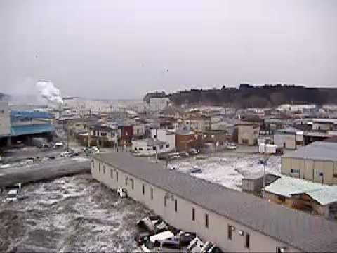 Shocking New Footage Tsunami 2011 Kesennuma Japan