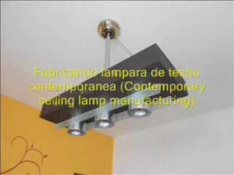 Fabrica tu lampara de techo - Lamparas de techo hechas en casa ...