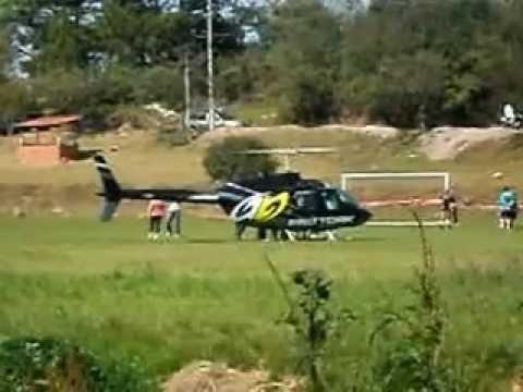 Helicoptero da Pro Tork em Silveira Martins RS