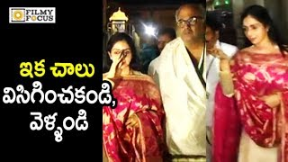 Video Sridevi Irritated by Media at Tirumala || SriDevi Visits Tirumala with Husband Boney Kapoor MP3, 3GP, MP4, WEBM, AVI, FLV November 2017